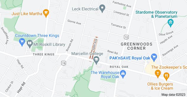 Location of Peet Avenue
