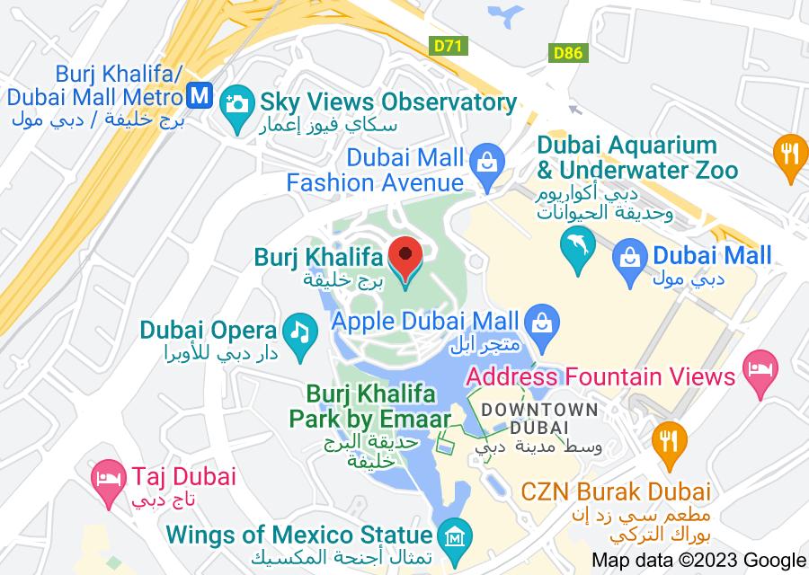 Location of Burj Khalifa