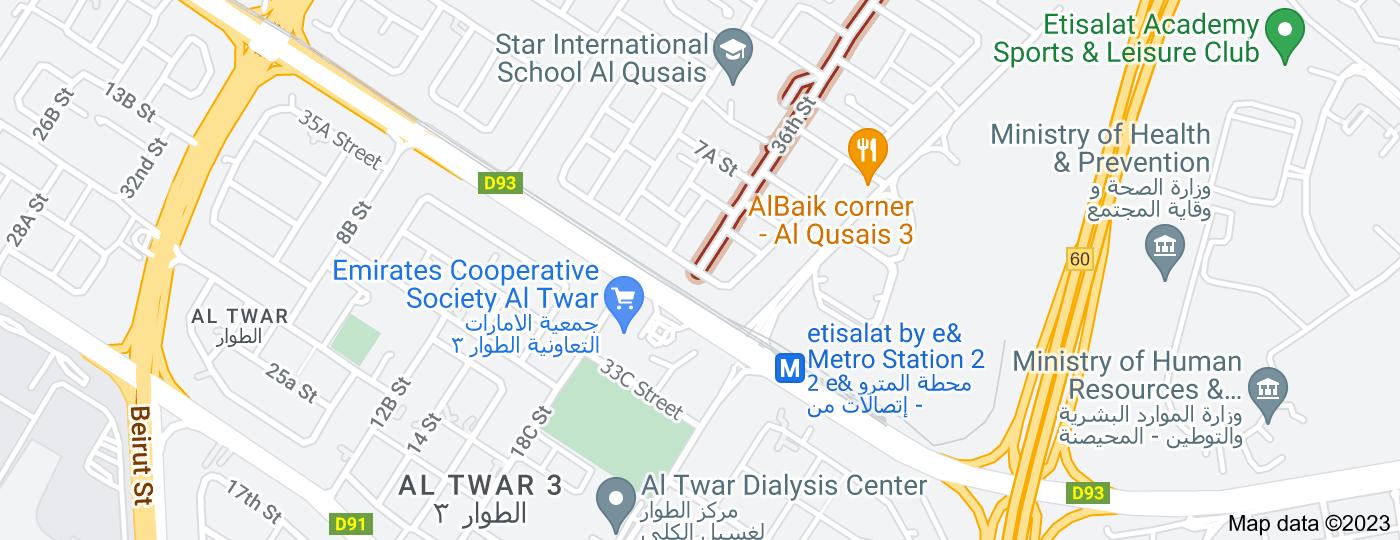 Location of 36th Street