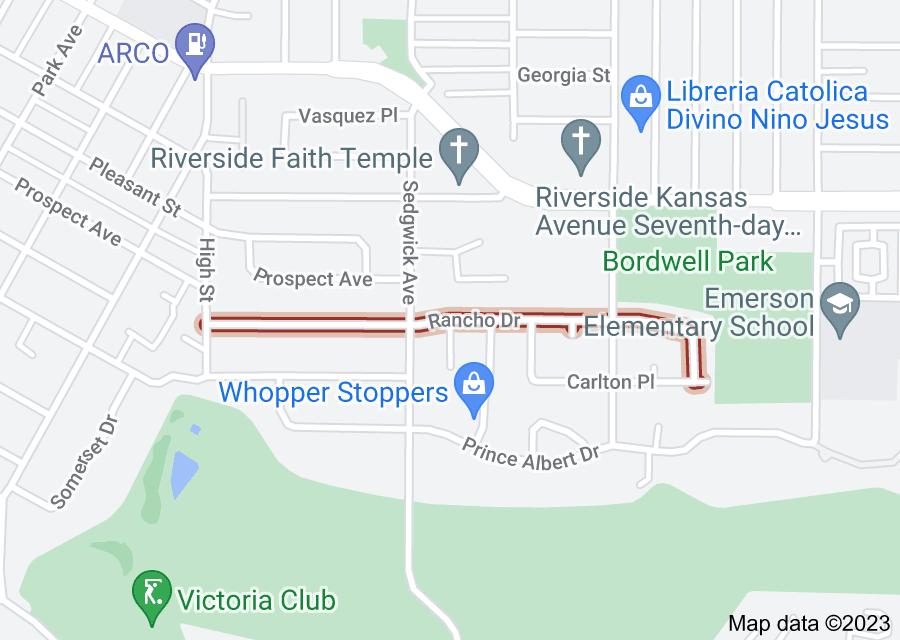 Location of Rancho Drive