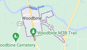 Map of Woodbine, Georgia