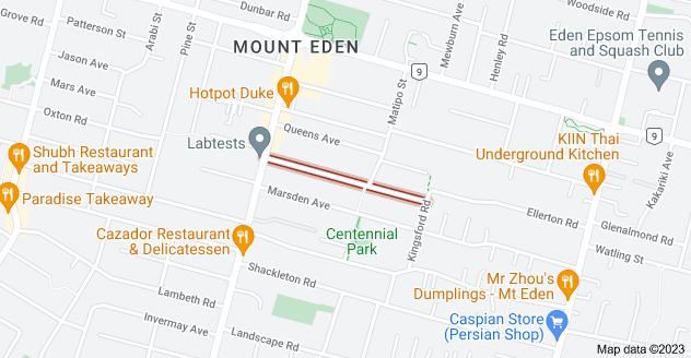 Location of Kensington Avenue