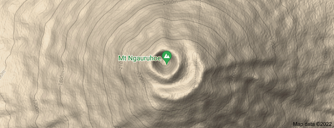 Location of Mount Ngauruhoe