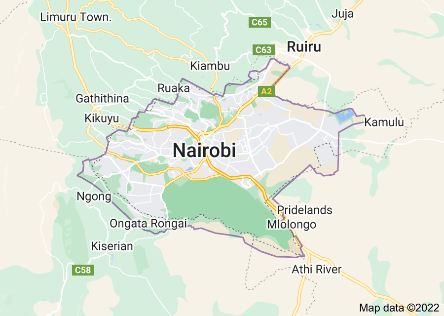 Location of Nairobi