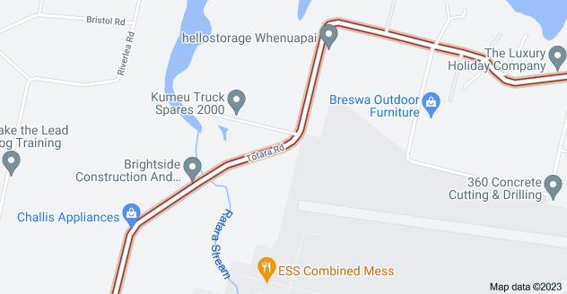 Location of Totara Road