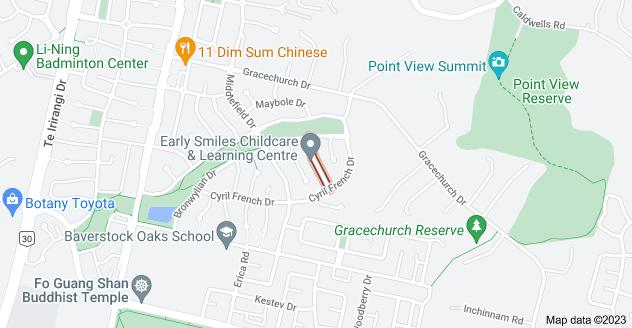 Location of Ainwick Road