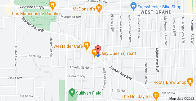 Map of 1135 Walker Ave NW, Grand Rapids, MI 49504