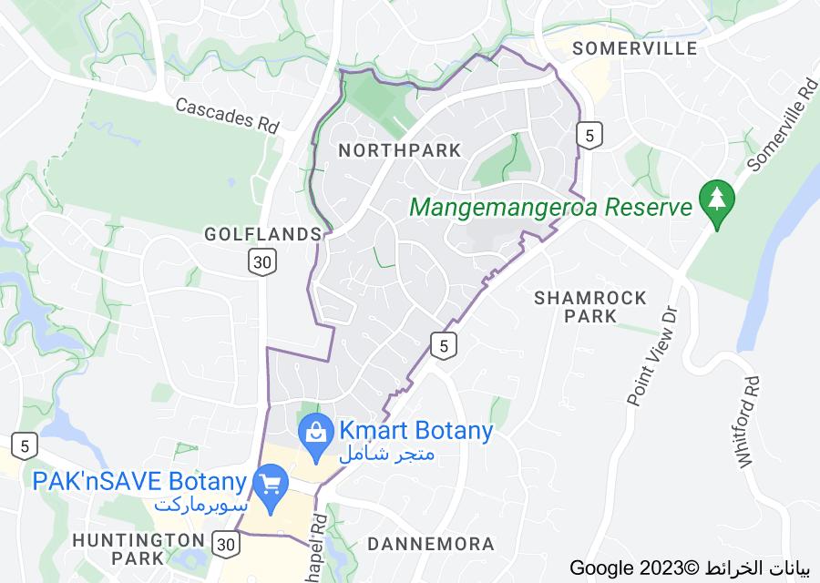 Location of Northpark