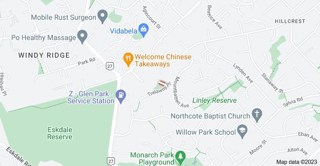 Location of Menear Lane