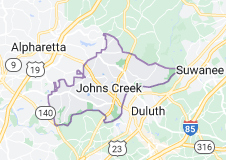 Map of Johns Creek