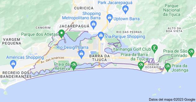 Mapa de Barra da Tijuca, Río de Janeiro - Estado de Río de Janeiro, Brasil
