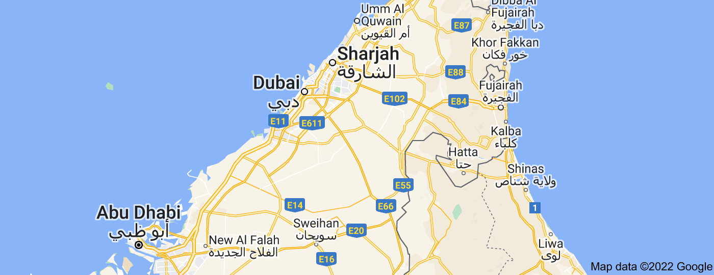 Location of Emirate of Dubai