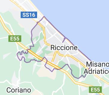 Mappa di: Riccione