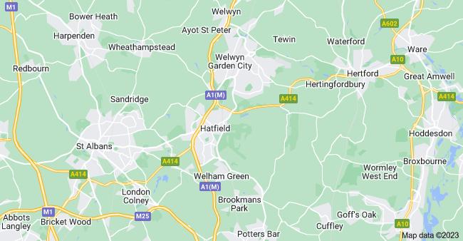 Map of Hatfield