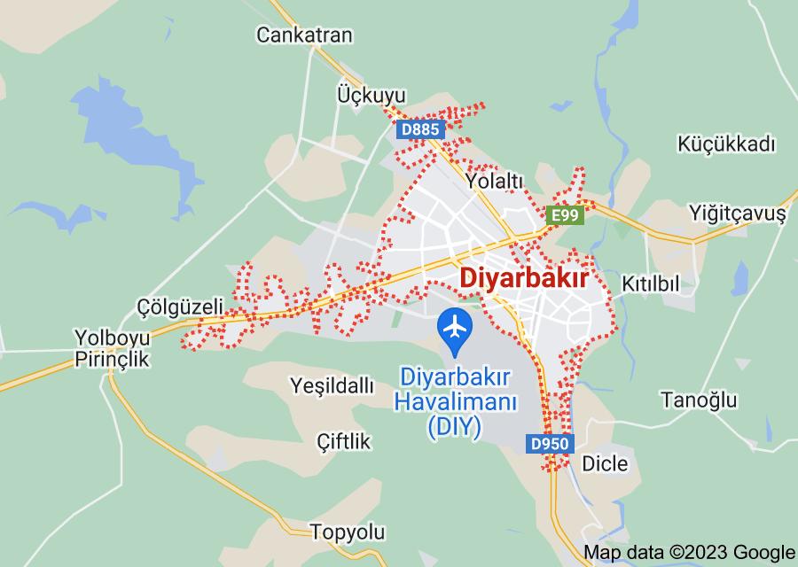 Location of Diyarbakır