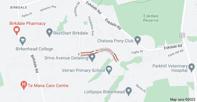 Location of Castleton Street