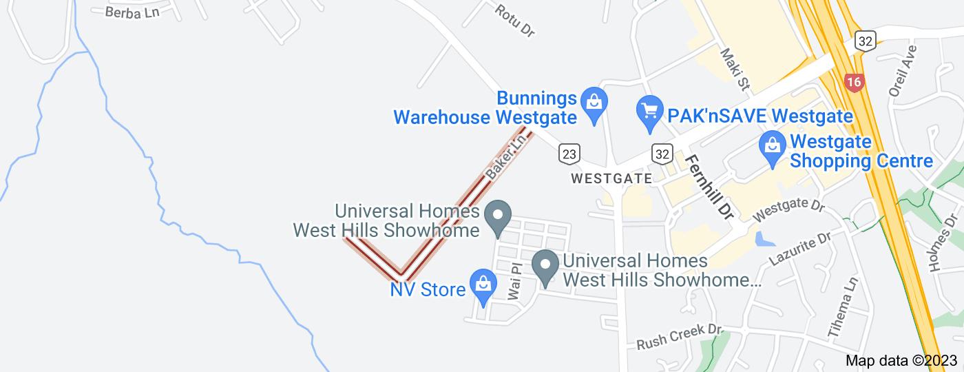 Location of Baker Lane