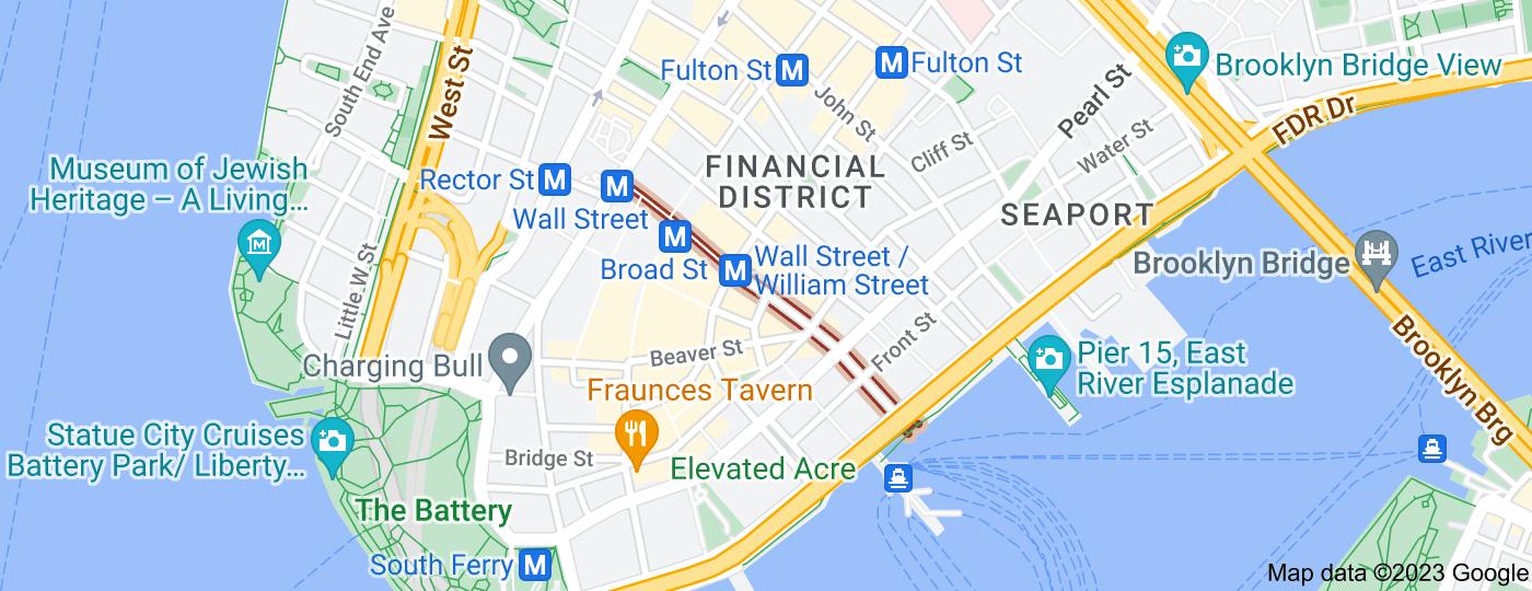Location of Wall Street