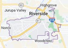 Map of Riverside, California