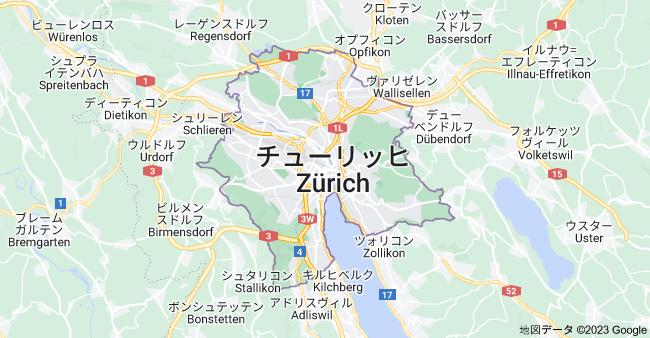 スイス チューリッヒの地図