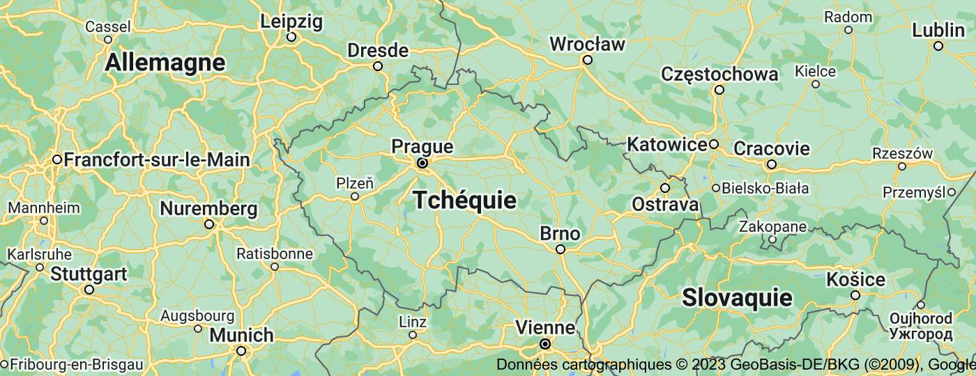 Location of République tchèque
