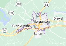 Map of Morganton