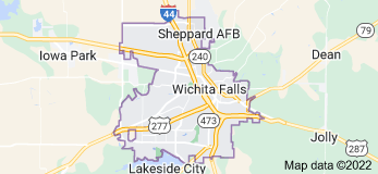 Map of Wichita Falls