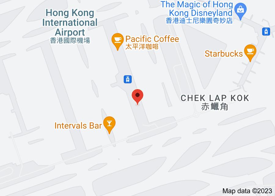 Location of Hong Kong International Airport