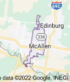 Map of McAllen, Texas