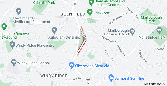 Location of High Road
