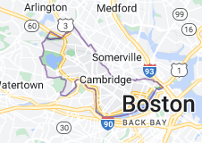 Map of Cambridge, Massachusetts