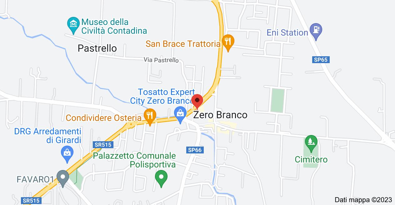 Mappa di: Via Noalese, 5, 31059 Zero Branco TV