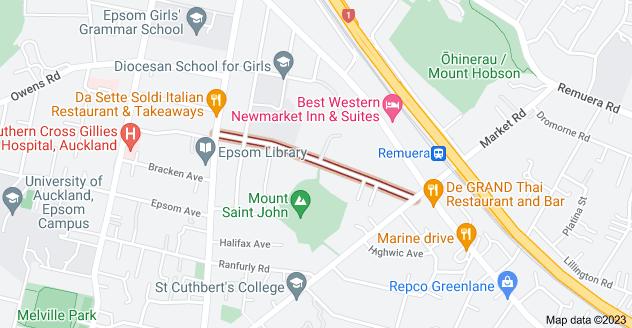 Location of Mount Saint John Avenue