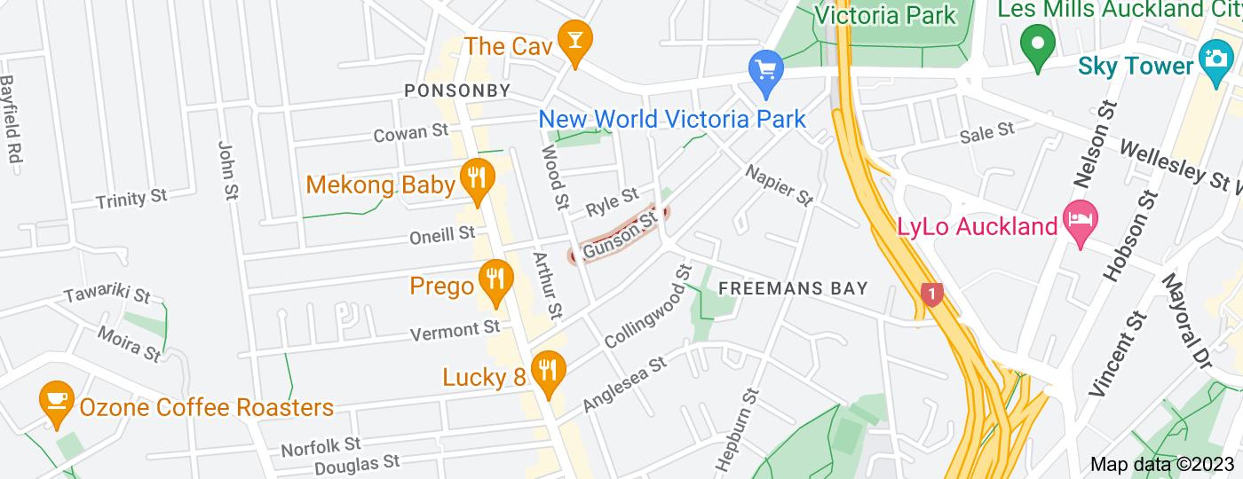 Location of Gunson Street