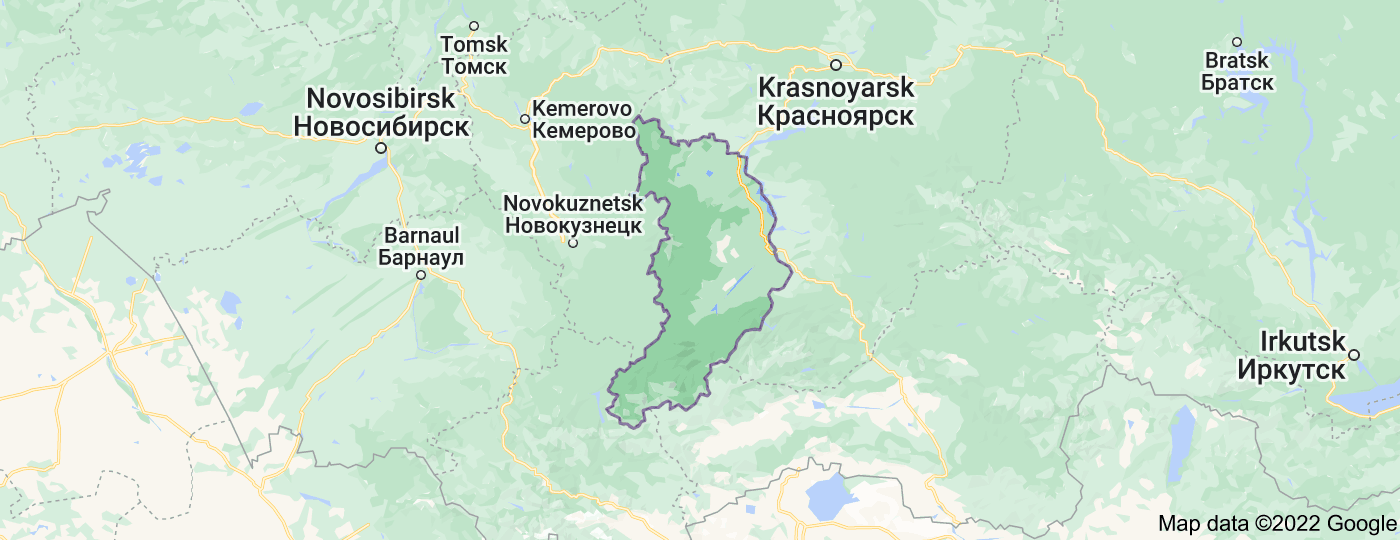 Location of Republic of Khakassia