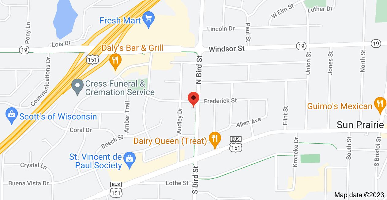 Map of 188 N Bird St, Sun Prairie, WI 53590