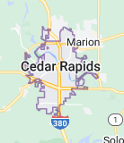 Map of Cedar Rapids
