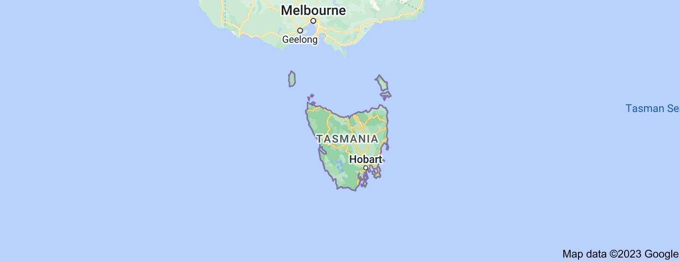 Location of Tasmania