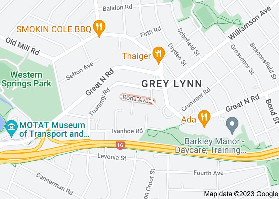 Location of Rona Avenue