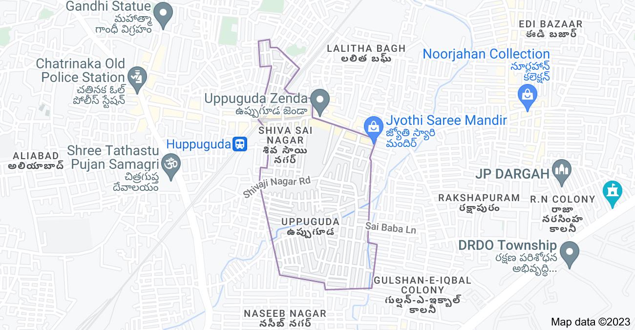 Map of Uppuguda, Shiva Sai Nagar, Hyderabad, Telangana 500053, India