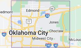 Map of Oklahoma County