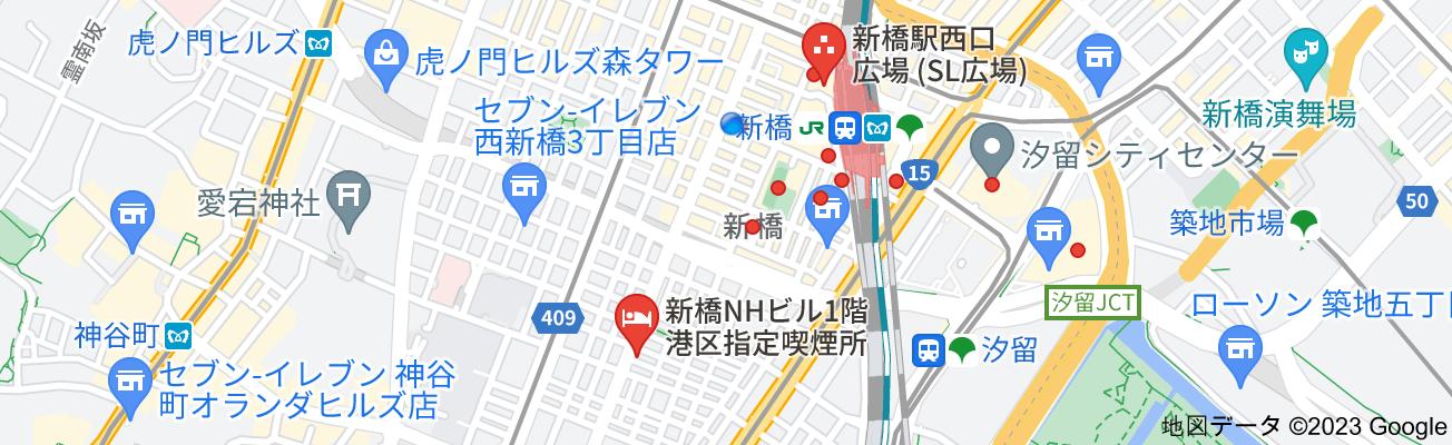 新橋 喫煙所の地図