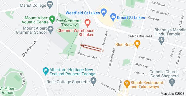 Location of Locarno Avenue