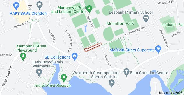 Location of Ashmere Lane