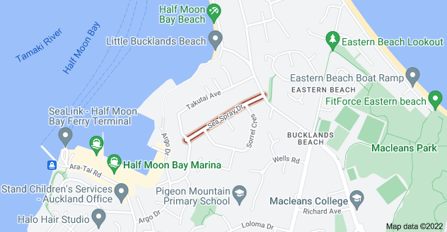 Location of Sea Spray Drive