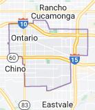 Map of Ontario, California