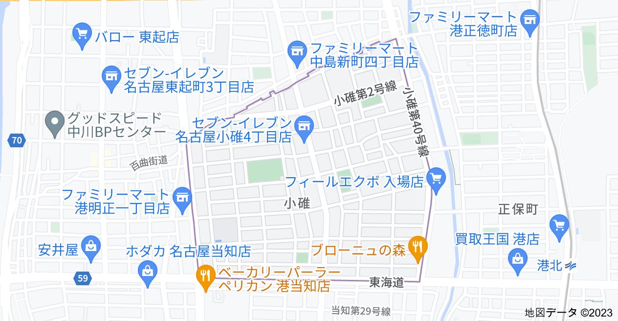 〒455-0801 愛知県名古屋市港区小碓の地図