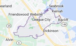 Map of League City