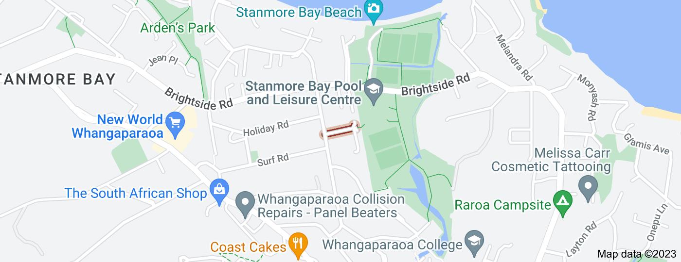 Location of Te Ruru Way