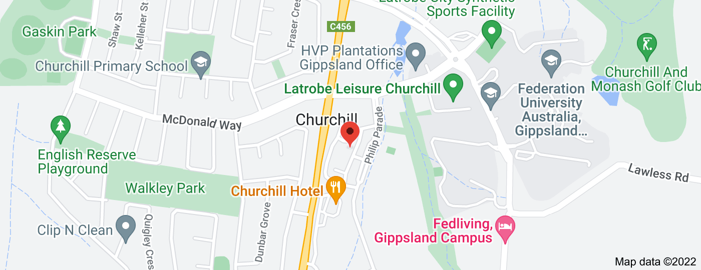 Location of CBA Branch (Churchill Shopping Centre)